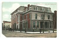 Elks Home Franklin 5th Sts READING PA Berks County Pennsylvania Postcard