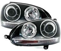 For VW Golf MK5 V 04-09 Black PROJECTOR R32 GTi STYLE HEADLIGHTS LHD