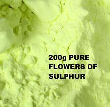 Flores de azufre en polvo 200g - 99,99% De Alta Pureza Sublimado-salud remedio
