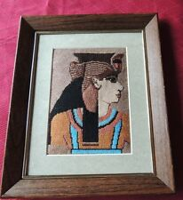 Completed Needlepoint Framed EGYPTIAN FIGURE