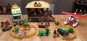 Playmobil Wildlife 4826 Oambati Station Jeep LKW Flugzeug Tiere Konvolut