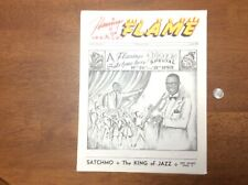 1962 Flamingo Nco Club Flame Program Louis Armstrong Satchmo Jazz Naples Italy