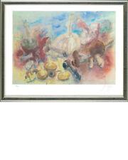 Günter Grass (1927-2015), Pilze und meine Pfeife, 2002 - gerahmt, signiert, numm