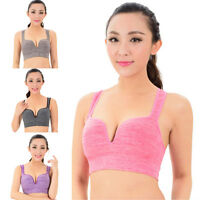 Women Seamless Racerback Fitness Yoga Padded Up Bra Stretch Workout Tank Top