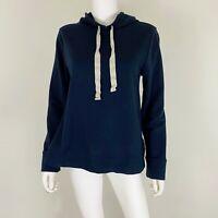 LOFT Women's Size M Hooded Sweatshirt Navy EUC