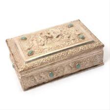 Impressive Burmese Repousse Silver Box.