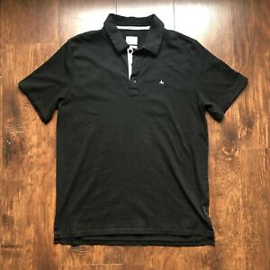 Mens Rag & Bone Polo Shirt Standard Issue Large Black