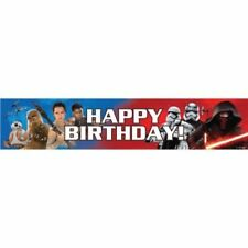 Star Wars Banner Boys Happy Birthday Party Supplies Hanging Decorations EP 7