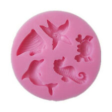 Ocean Fish Starfish Cake Mould Silicone Fondant Ice Cake Mold Baking Tool