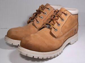 Timberland Sz 8 M Tan 23391 Nubuck Leather Womens Chukka Lace Up Boots