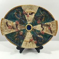 Majolica Plate, authentic Decorative and Collectible bird design