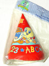 ~ BABY LOONEY TUNES ALPHABET  ABC 123~~8-PAPER HATS.   PARTY SUPPLIES