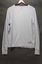 Men's CK Jeans Thermal Long Sleeve Shirt Slub Knit Blue Calvin Klein Jeans