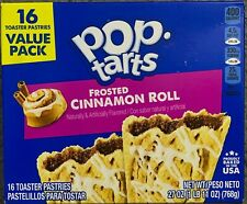 NEW KELLOGGS POP TARTS FROSTED CINNAMON ROLL 27 OZ (768g)BOX 16 TOASTER PASTRIES