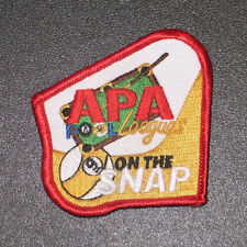 APA 9 ON SNAP PATCH PATCHES AMERICAN POOLPLAYERS OLD