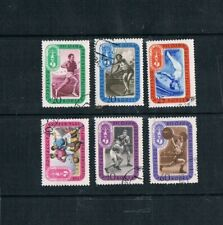 Six Used 1956 USSR Olympic Stamps