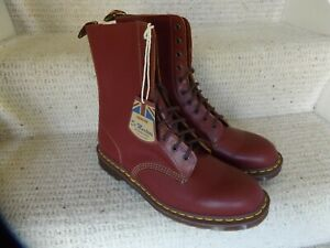 Dr Martens Oxblood Red Made in England 1490 10 Eyelet Boots Size Mens UK12