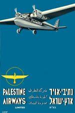 Vintage Palestine Airways Airline Poster Print A3/A4