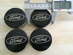 4x  Ford 54mm  wheel  centre caps. Black.  6M211003AA   # JL261