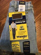 Men's Wrangler Jeans 47 MWZ Premium Performance Cowboy Cut Regular Fit Dark Blue