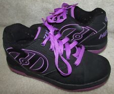 Heelys Propel 2.0 Skate Shoes #770370 – Black Purple Size Youth 4 Girl 5 EUC
