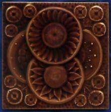 Jugendstil Fliese Kachel, Art Nouveau Tile, American Encaustic Tiling Co., Blüte