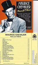 CD 23T MAURICE CHEVALIER PARIS JE T'AIME BEST OF 1990  (NO BARRE CODE)