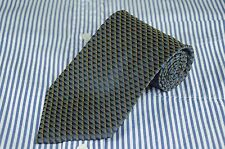 Tino Cosma Men's Tie Navy & Gold Net Silk Necktie $125 Retail NEW