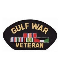 Gulf War Veteran Hat Patch, Military Cap Patches