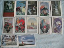 12 Russian Postcard Set Fairy Tale Epic Child card Russ Vasilev Hero Children Ki