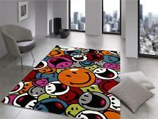 Teppich Multicolor Designer HA008 Smile Modern 120x170cm Smiley bunt