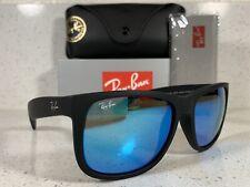 New Ray-Ban Justin Mix Wayfarer RB4165 622/55 Black/Blue 54MM
