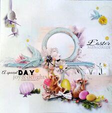 12 x 12 Printed Cardstock - Easter Memories