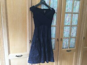 Adrianna Papell Cocktail/Party Dress Size 12+ In Blue 1950's Style Exc Condition