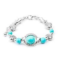 New Wholesale Cheap Fashion Vintage Turquoise Adjustable Bracelet Chain Jewelry