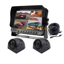 """7"""" Monitor DVR Recorder 2 x Side Camera Rear View Camera for Truck Vehicle CCTV"""