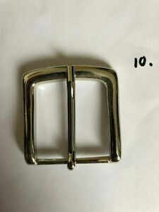 """small square Belt Buckle for 1"""" Belt - silver - 4 x 4.1cm"""