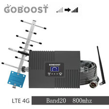 Signal Booster LTE 4G Band20(800DD)MHz Amplifier Yagi Antenna for Call and data