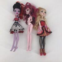 Mattel Monster High Dolls Lot of 3 Draculaura Jane Boolittle Jane DIY Customs