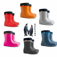 Dino Kids Boys Girls Wellies Wellington Boots Rainy Snow Ultra Light  Size 5-13