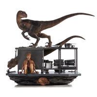 Jurassic Park - Velociraptors IN The Kitchen 1/10 Polystone Statuen Iron Studios