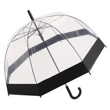 Paraguas cúpula transparente ver a través de Moda para Damas Transparente caminar Lluvia Brolly