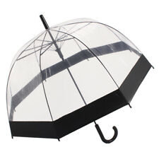 Fashion Clear See Through Dome Umbrella Ladies Transparent Walking Rain Brolly
