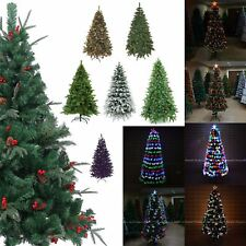 Artificial Christmas Tree LED Fibre Optic Pre Lit Xmas Luxury Home Decorations