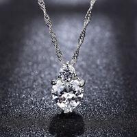 Bijoux Luxe Femme Collier Pendentif Zirconium Cristal Coeur