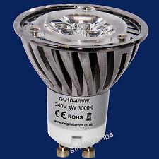 LED GU10 Light Bulb 4W Warm White High Power 40W Light Output Energy Saving New