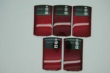 LOT of 5 BLACKBERRY CURVE 8300 8320 RED Battery door cover used