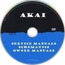 Akai Service Manuals & Schematics- PDFs on DVD - Huge Collection Latest