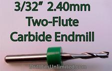 """Two Flute - 3/32"""" (2.40mm) Carbide End Mills CNC Router PCB Dremel - FIVE PIECES"""