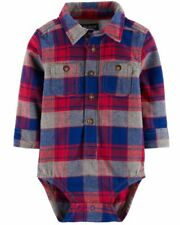 Oshkosh B'gosh 6-9M Baby Flannel One Piece New With Tags